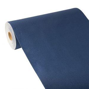 """Bieżnik z PV-Tissue Mix przypominającej tkaninę, """"ROYAL Collection"""" w rolce 24m/40cm ciemno niebieski"""