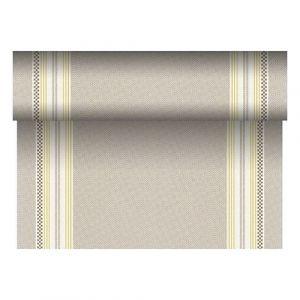 Bieżnik PAPSTAR ROYAL Collection Kim z PV-Tissue Mix przypominającej tkaninę,w rolce 24m/40cm musztardowy, bibuła