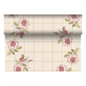 Bieżnik PAPSTAR ROYAL Collection Berryrose z PV-Tissue Mix przypominającej tkaninę,w rolce 24m/40cm bordowy, bibuła