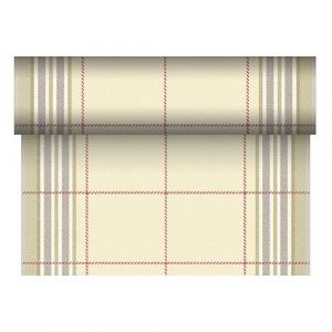Bieżnik PAPSTAR ROYAL Collection Russel z PV-Tissue Mix przypominającej tkaninę,w rolce 24m/40cm zielony, bibuła
