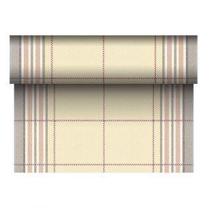 Bieżnik PAPSTAR ROYAL Collection Russel z PV-Tissue Mix przypominającej tkaninę,w rolce 24m/40cm brązowy, bibuła