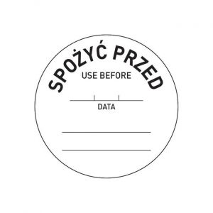 Food safety - 'before' sticker