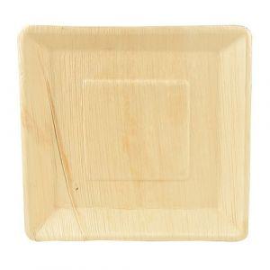 Talerz PURE z liści palmowych kwadratowy 25,5x25,5x 2,5 cm op. 25 sztuk