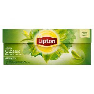 Tea LIPTON Green Tea, 25 bags, green, classic
