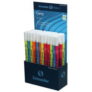 Display, ink eraser with fine felt tip pen, SCHNEIDER, Corry 2016, 60 pcs