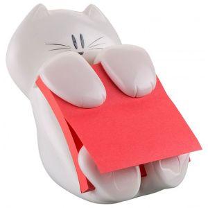 Podajnik do bloczków samoprzylepnych POST-IT® Kotek (CAT-330), biały, w zestawie 1 bloczek Super Sticky Z-Notes