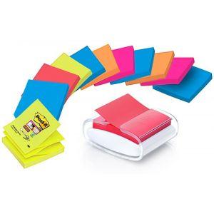 Sticky notes holder, POST-IT® Pro (PRO-W-12SSCOL-R330), white, 12 Super Sticky Z-Notes included