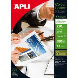 Papier fotograficzny APLI Glossy Laser Paper, A4, 210gsm, błyszczący, 100ark.
