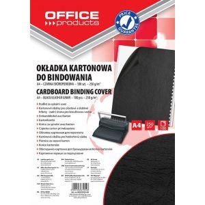 Okładki do bindowania OFFICE PRODUCTS, karton, A4, 250gsm, skóropodobne, 100szt., czarne