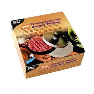 Przekładka papierowa do burgerów idealna do prasy 13cm op.500szt