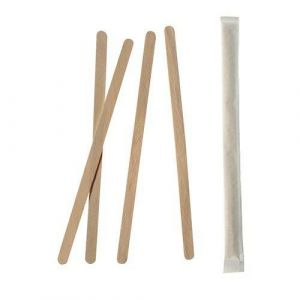 Mieszadełka drewniane 17,8cm op.1000szt pojedynczo pakowane, gr.6mm PURE (k/10)