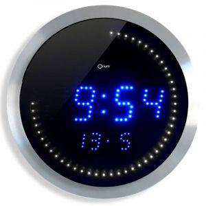 Zegar ścienny CEP LED, 30cm, niebiesko-srebrny