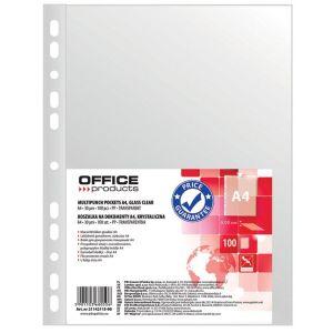 Koszulki na dokumenty OFFICE PRODUCTS, PP, A4, krystal, 30mikr., 100szt.