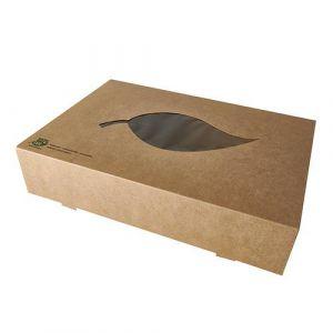 Karton transportowy cateringowy 36x28cm, biodegradowalne, op. 10 sztuk