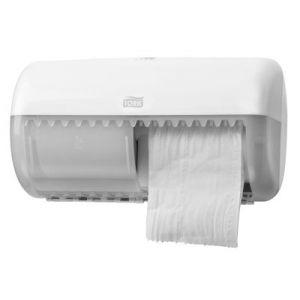 Dozownik Tork do papieru toaletowego w rolkach konwencjonalnych podwójny biały T4