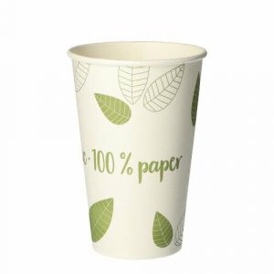 Kubek papier 300ml op.50szt śr.8cm, h 11,7cm (k/20) Pure