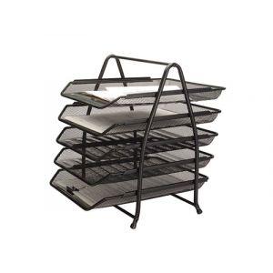 Zestaw na biurko Q-CONNECT Office Set, metalowy, 5 szufladek, czarny