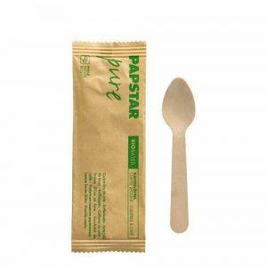 Łyżeczka deser 11cm DREWNO konfekcja op.50szt. PURE pojedynczo pakowana (k/10)