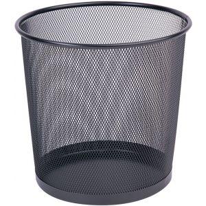 Kosz na śmieci Q-CONNECT Office Set, metalowy, 12l, czarny