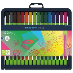 Fine tip pen set SCHNEIDER Line-Up, 0.4mm, stand, 16 pcs, assorted colours