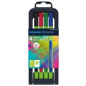 Fine tip pen set SCHNEIDER Line-Up, 0.4mm, stand, 4 pcs, assorted colours