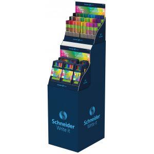 Fine tip pen display SCHNEIDER Line-Up, 0.4mm, tower, 312 pcs, assorted colours