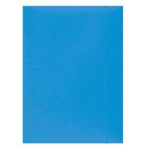 Teczka z gumką OFFICE PRODUCTS, karton, A4, 300gsm, 3-skrz., jasnoniebiska