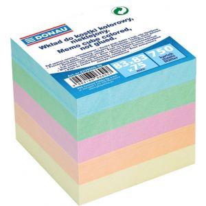 Kostka DONAU nieklejona, 83x83x75mm, mix kolorów