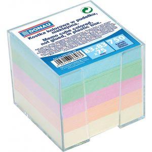 Kostka DONAU nieklejona, w pudełku, 92x92x82mm, mix kolorów