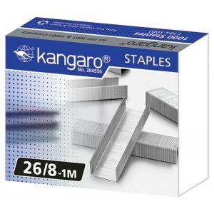 Zszywki KANGARO, No. 26/8-1M, 1000 szt.