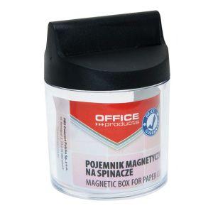 Pojemnik magn. na spinacze OFFICE PRODUCTS, okrągły, bez spinaczy, transparentny