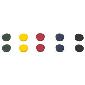 Magnesy BI-OFFICE, okrągłe, średnica 35mm, 10szt., mix kolorów