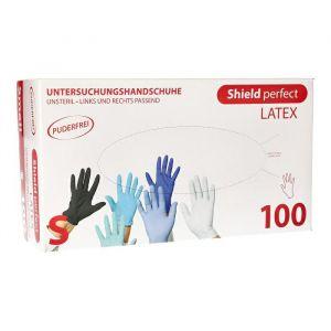 Rękawiczki lateks bezpudrowe op100szt S Top Glove - Shield perfect (k/10)