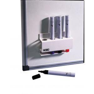 Przybornik magnetyczny NOBO, na markery, biały
