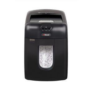 Niszczarka automatyczna REXEL Auto+ 130X EU, konfetti, P-4, 130 kart., 26l, karty kredytowe, czarna