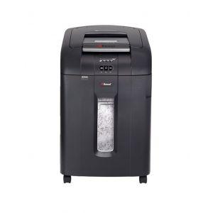 Niszczarka automatyczna REXEL Auto+ 600X, konfetti, P-4, 600 kart., 80l, karty kredytowe/CD, czarna