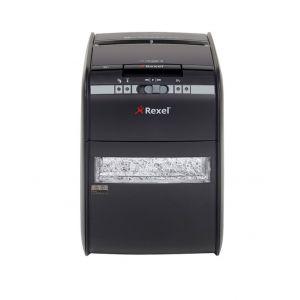 Niszczarka automatyczna REXEL Auto+ 90X EU, konfetti, P-3, 90 kart., 20l, karty kredytowe, czarna