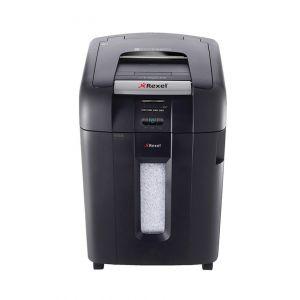 Niszczarka automatyczna REXEL Auto+ 500M, konfetti, P-5, 500 kart., 80l, karty kredytowe/CD, czarna
