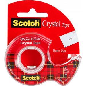 Taśma biurowa SCOTCH® Crystal Clear (6-1975), transparentna, 19mm, 7, 5m