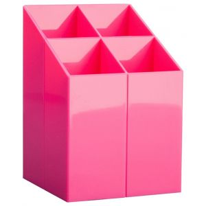 Przybornik na biurko ICO, z przegrodami, różowy