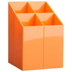 Przybornik na biurko ICO, z przegrodami, pomarańczowy