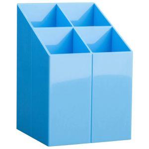 Przybornik na biurko ICO, z przegrodami, jasnoniebieski