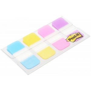 Index dividers, POST-IT®, for archiving (676-AYPV), PP, strong, 15,8x38,1mm, 4x10 pcs, assorted colours