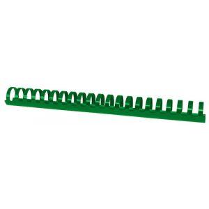 Grzbiety do bindowania OFFICE PRODUCTS, A4, 28,5mm (270 kartek), 50 szt., zielone
