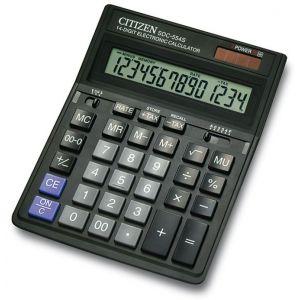 Kalkulator biurowy CITIZEN SDC-554S, 14-cyfrowy,199x153mm, czarny