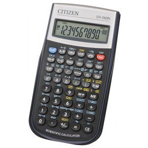 Kalkulator naukowy CITIZEN SR-260N, 10-cyfrowy, 154x80mm, etui, czarny