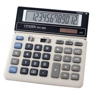 Kalkulator biurowy CITIZEN SDC-868L, 12-cyfrowy, 154x152mm, czarno-biały