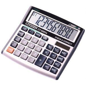 Kalkulator biurowy CITIZEN CT-500VII, 10-cyfrowy, 136x134mm, szary