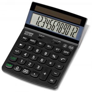 Kalkulator biurowy CITIZEN ECC-310, 12-cyfrowy, 173x107mm, czarny