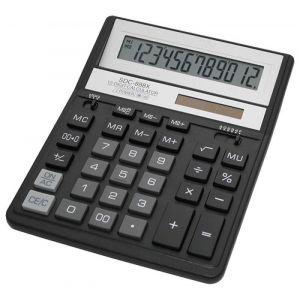 Office calculator, CITIZEN SDC-888XBK, 12-digit, 203x158mm, black